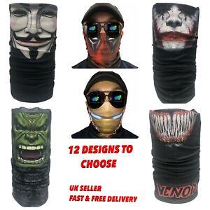 Superhero Face Cover Snood Mask Neck Warmer Balaclava Unisex Marvel Bandana
