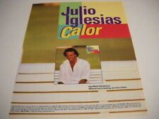 JULIO IGLESIAS with the release of CALOR 1992 PROMO POSTER AD mint condition