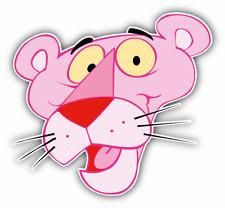 Pink Panther Face Cartoon Car Bumper Sticker Decal 4'' x 5''