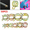 Fastener 5/6/7/8/9mm Spring Clip Fuel Water Line Hose Pipe Air Tube Clamps 50PC