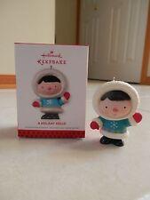 Hallmark Keepsake 2013 A Holiday Hello LE Register to Win Ornament NIB Eskimo