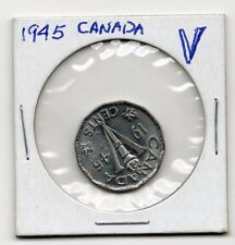 1945 CANADA 5 CENTS - Excellent Vintage Coin