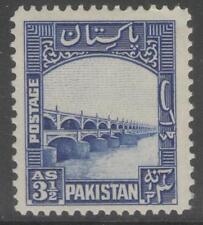 PAKISTAN SG32 1948 3½a BRIGHT BLUE MTD MINT
