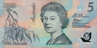 Australian 1992-2005 5x $5 Polymer SET First QE2 Signatures + 2006 RBA Pamphlet