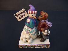 Jim Shore and Boyds Bears Snowman Selling Snowballs Christmas Figurine 4041909
