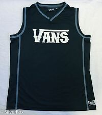 Mens Vans Warped Tour 18 Tank Top Band Concert Jersey Skate Beach Black Surf S