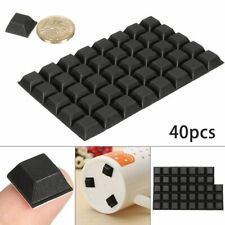 Door Furniture Buffer Pad 40Pcs Square Self Adhesive Stick on Rubber Feet Bumper