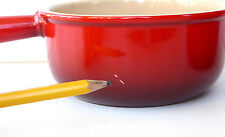 Le Creuset Bowl French Onion Soup 16 oz Stoneware Red Handle Unused