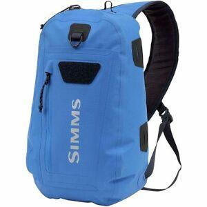 NEW Simms Dry Creek Z Sling Pack - Waterproof 15L Tan/Pacific Blue