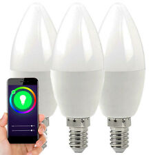 3 WiFi Colour Changing LED Light Bulb–4.5W E14 Mini Full RGB–SMART Dimmable Lamp