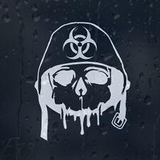 Army Zombie Outbreak Response Skull In Military Helmet Car Decal Vinyl Sticker