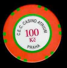 PRAGUE C.E.C  CASINO ATRIUM  100 KORUN CHIP
