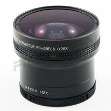 58mm 0.25X Super Wide Fisheye Lens for Canon Sony Nikon Panasonic w/ +12.5 macro