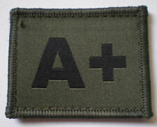 NEW OFFICIAL A+ blood patch, olive.