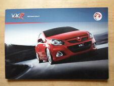 VAUXHALL VXR RANGE 2009 UK Mkt Sales Brochure - Monaro VXR8 Corsa Astra Zafira