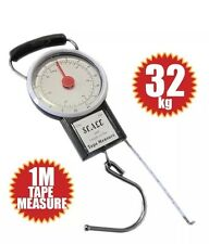 32KG LUGGAGE SCALE BAG WEIGHT BAGGAGE SUITCASE TRAVEL SCALES 1M TAPE MEASURE UK