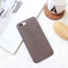 Luxury Matte Cloth Grain Slim Soft Silicone Case Cover For iPhone X 6s 7 8 Plus