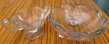 Vintage Fancy Glass Fruit Bowl & Sugar Bowl (Can be used for Cream)