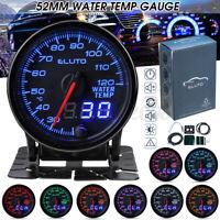 Manometro Digitale LED Temperatura Acqua Water Temp Gauge 52mm Auto 12V 10Colori