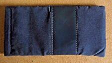Blue glasses case, soft spectacle, velvet look, spring close, gift, stylish (M3)