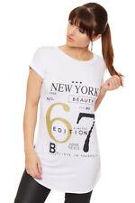 Magliette da donna bianchi grafici viscosa