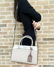 Kate Spade Devyn Medium Leather Satchel Duffle Crossbody Shoulder Bag Black
