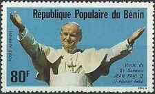 Timbre Religion Pape Jean Paul II Bénin PA301 ** lot 17819