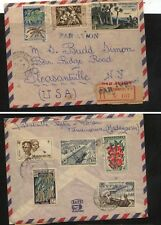 Madagascar nice franking  registered cover  to  US           KL1012