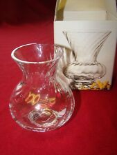 Boxed Dartington Lead Crystal Remus D498 Vase With Label - Frank Thrower