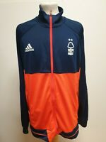 G545 MENS ADIDAS BLUE RED NOTTINGHAM FOREST FOOTBALL TRACKSUIT JACKET UK 2XL