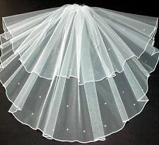 Crystal Veil Wedding Any Length Or Colour 2 Tier Sparkle Edge LBV145 LBVeils UK