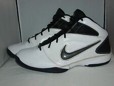 2010 Nike Full Lenght Air 415350-101 Basketball Shoes White Black Sneakers Sz 15