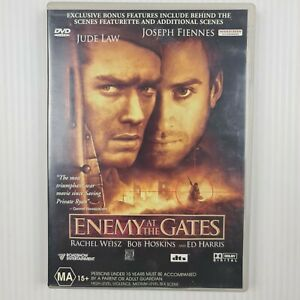 Enemy At The Gates DVD - Jude Law - Joseph Fiennes - Region 4 -TRACKED POST