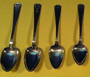 Four Sterling Silver Spoons Etruscan Pattern by Gorham