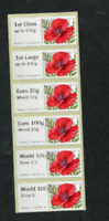 MA15 NEW TARIFF RATE VALUES 2020 Post & Go Poppies Collectors Strip set poppy