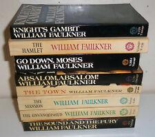 William Faulkner Paperback Novel lot of 8