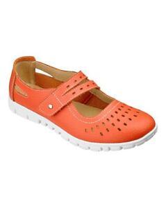 CUSHION WALK Bar Strap Shoes Standard D Fit Coral US9 EUR40 UK7