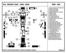 Real Carbon Fiber Dash Kit for 350Z 06-09  ManualTrans- full kit- NSN-10D