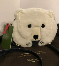 KATE SPADE Cold Comforts POLAR BEAR Crossbody Bag NWT Fish Zipper Pull