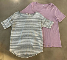 *Lot of 2*** GAP & Old Navy (Sz XS/S) Luxe Shirts Tops Gray Stripe Pink Loose