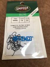 Umpqua Tiemco Fly Fishing Hooks Model Dry Fly TMC 900BL Size 14 Quantity 25
