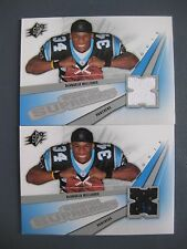 (2) DEANGELO WILLIAMS GAME-USED JERSEY LOT 2006 SPX ROOKIE SWATCH SUPREMACY