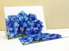 Hydrangea Floral Notecards, Pack of 5 Folded Fine Art Notecards with Envelopes