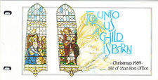 ISLE OF MAN Presentation Pack 1989 CHRISTMAS UNTO US A CHILD IS BORN