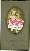 Antique Photo in Folder - REA Family - Mom Martha & Baby Bessie -