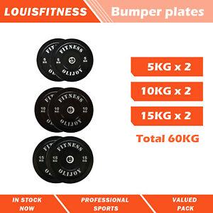 AU Fitness Gym Olympic Rubber Bumper Plates 2*5KG + 2*10KG + 2*15KG Set