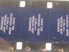"VINTAGE  16MM MOVIE FILM COLORADO RIVER TRIP DATED 1952 12 1/4"" REEL COLOR FILM"