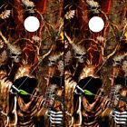 Cornhole Wraps Grim Reaper Bow Hunter Skull Flame Camo -Set of 2 Cornhole Decals