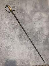 Antique War of 1812 Eagle Head Bone Handle Officer's Sword