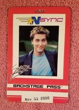 Lance Bass -N SYNC NO STRINGS ATTACHED TOUR REPLICA BACKSTAGE PASS Nov 11 2000